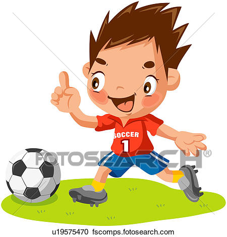 450x470 Clipart Of Soccer Player, Person, Soccer Ball, Worldcup, Athlete