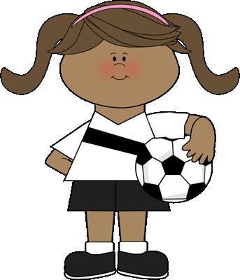 343x400 Girl Holding Soccer Ball Clip Art