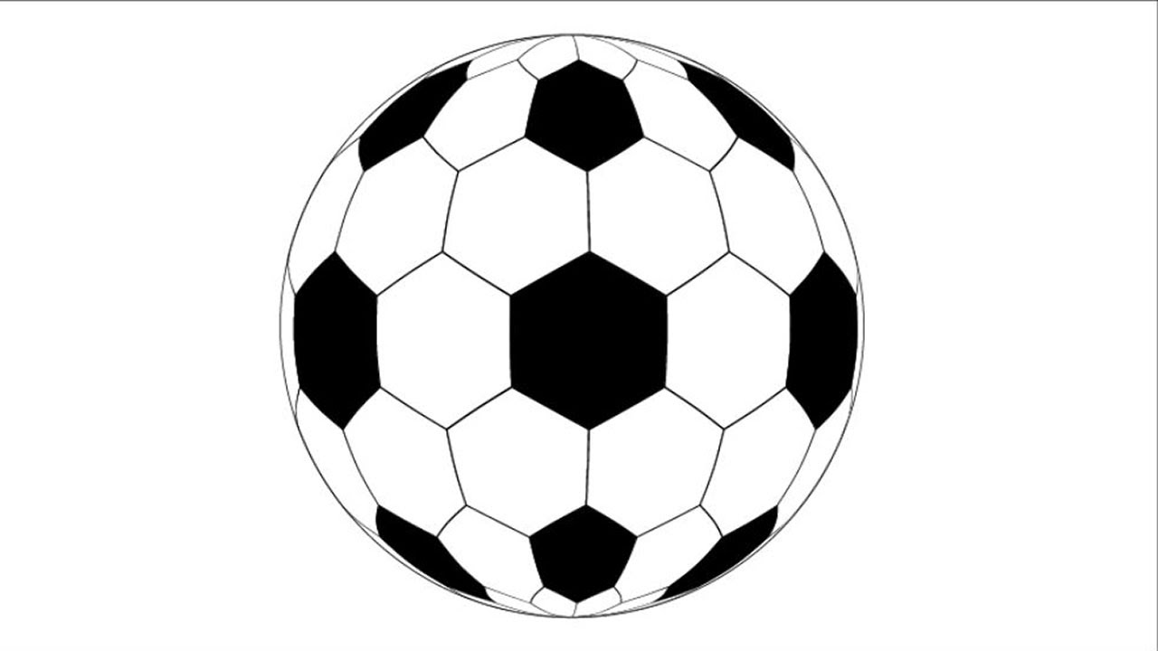 1280x720 How To Draw A Soccer Ball In Adobe Illustrator