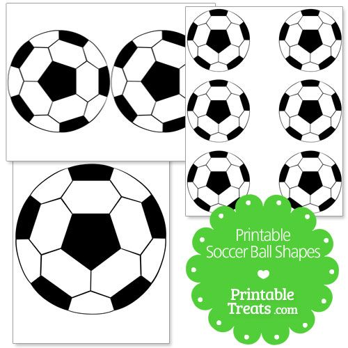 500x500 Printable Soccer Ball Shapes
