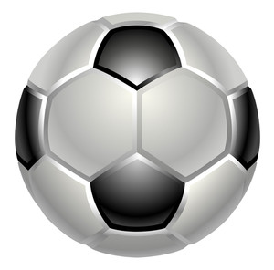 300x296 Shiny Soccer Ball On Grungy Colorful Background And Space For Your