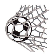 236x236 Soccer Ball And Net Clipart