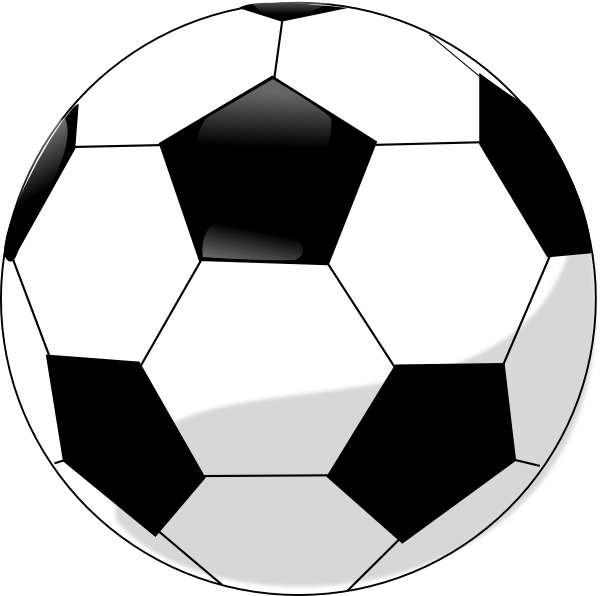 600x596 Soccer Ball Clipart