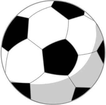 340x338 Soccer Ball Clip Art