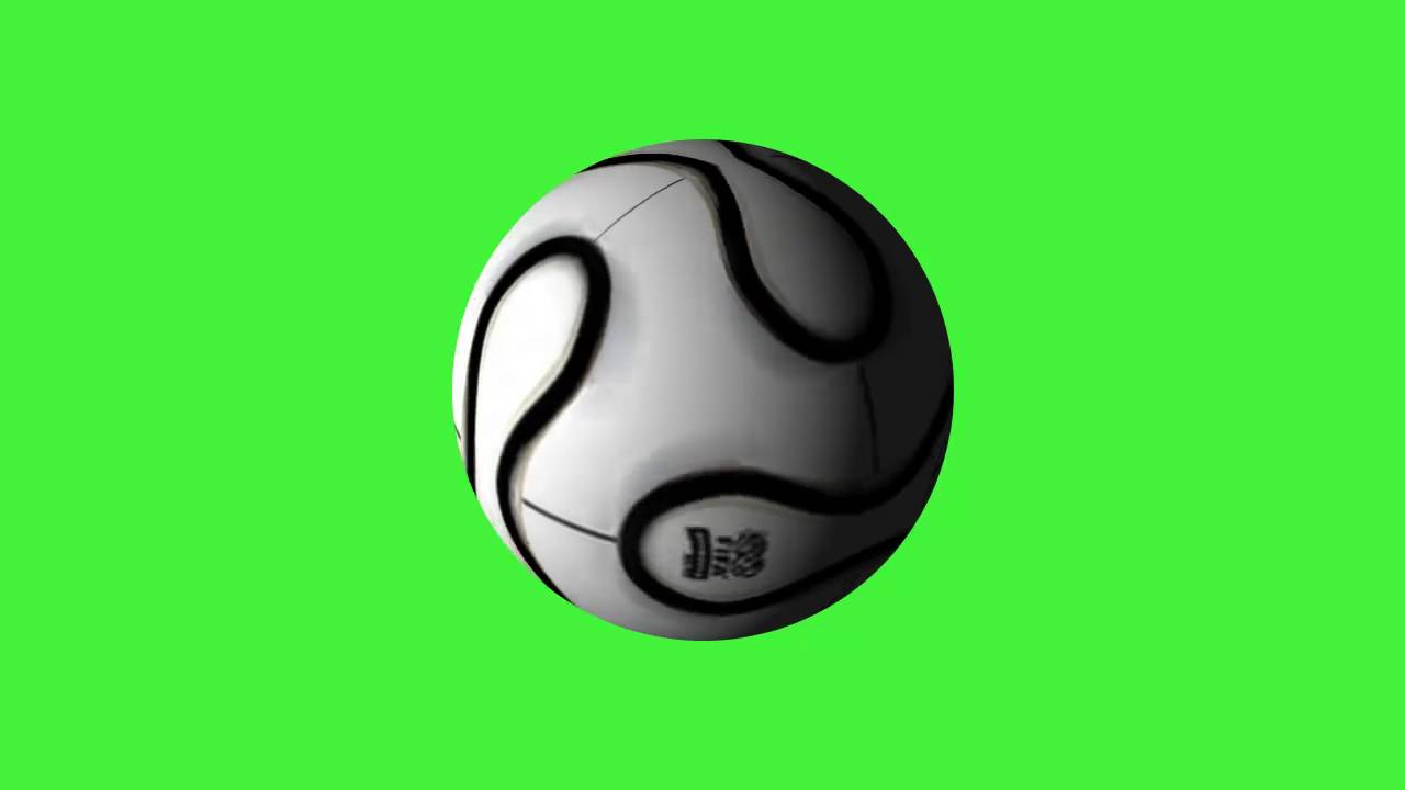 1280x720 Soccer Ball Green Screen
