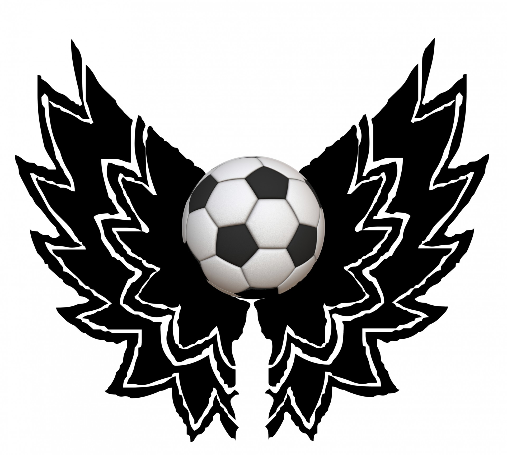 1920x1721 Winged Soccer Ball Free Stock Photo