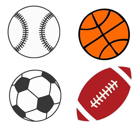 570x550 Ball Clipart Basketball And Soccer