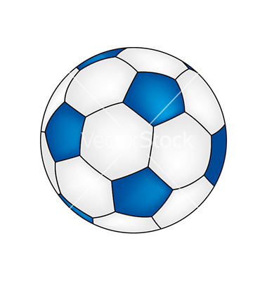 380x400 Blue Soccer Ball Clipart