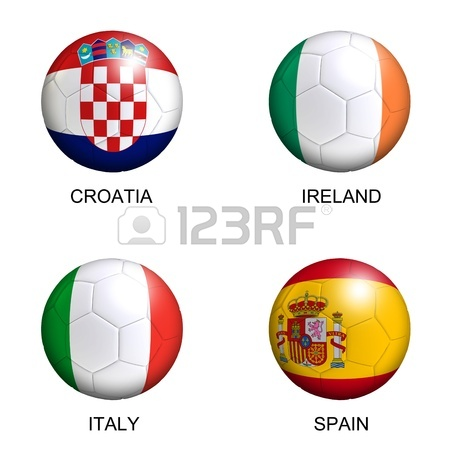 450x450 3d Rendering Of A Soccer Ball With Flags From The Countries
