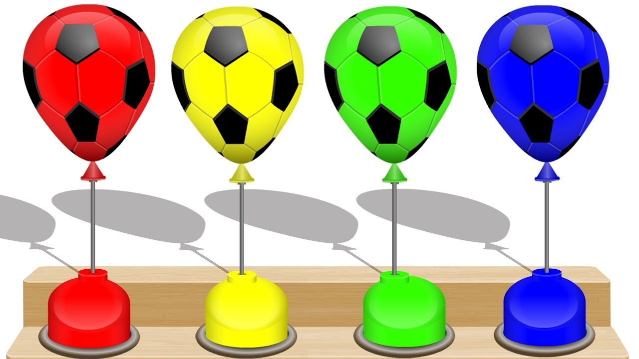 1280x720 Learn Colors With Soccer Ball Balloons Amp Fidget Spinner Toy