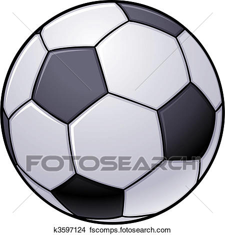 450x470 Clipart Of Soccer Ball K3597124