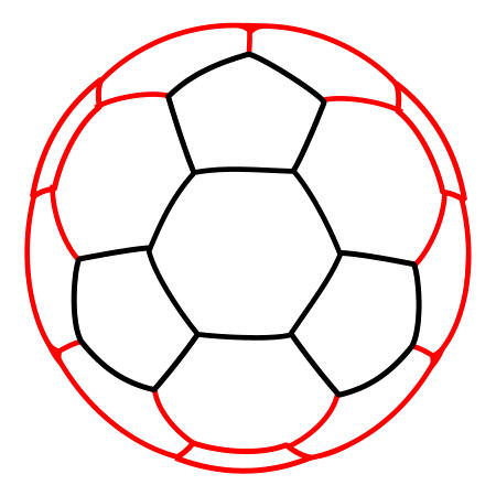 450x450 Drawing A Cartoon Soccer Ball