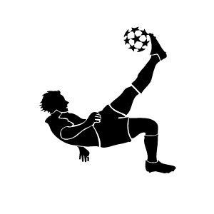 300x300 Kicking Soccer Ball Clipart