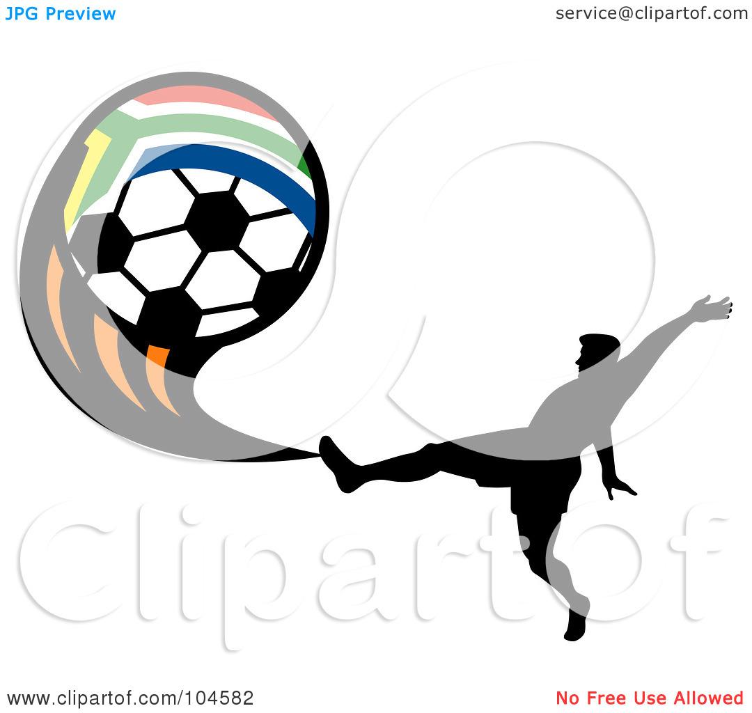 1080x1024 Kicking Soccer Ball Silhouette Clipart Panda