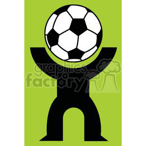 300x300 Royalty Free Silhouette Person With A Soccer Ball Head 379806