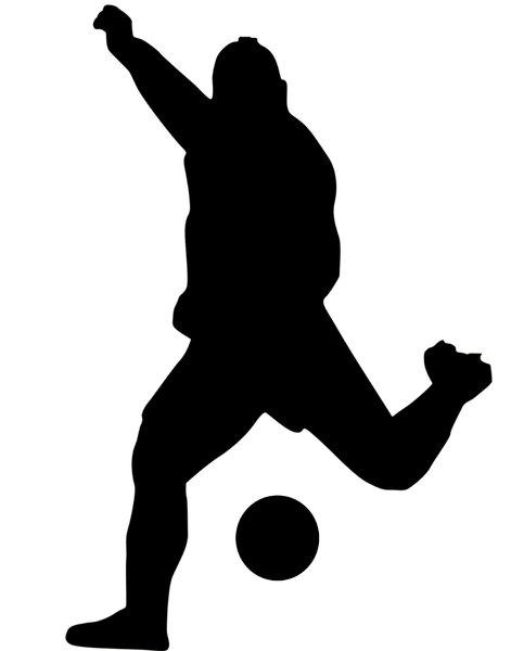 471x600 A Person Kicking A Soccer Ball