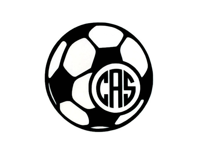 700x567 Soccer Ball Monogram Vinyl Decal Soccer Ball, Monograms And Cricut
