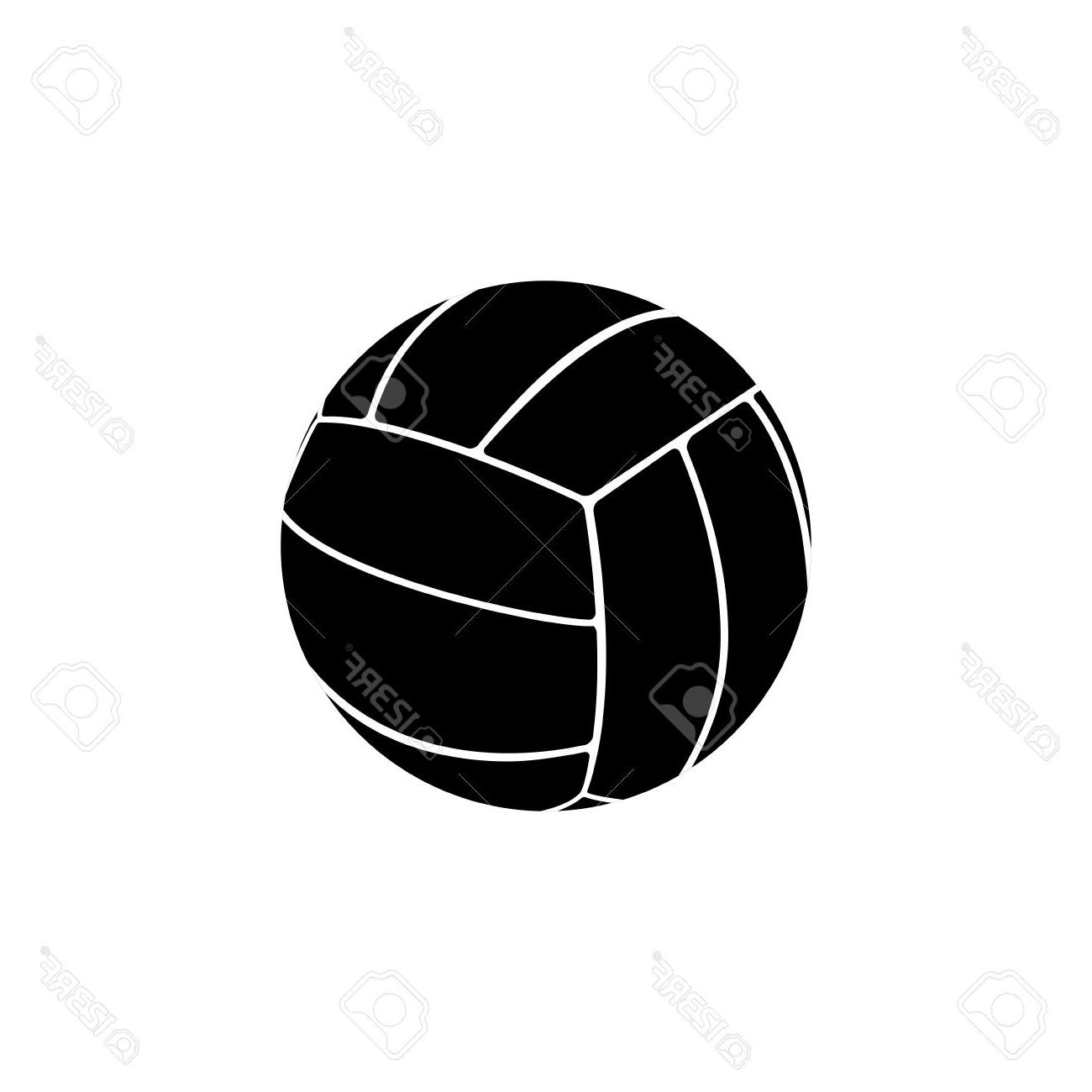 1300x1300 Best Abstract Volleyball Ball Silhouette On White Background Stock