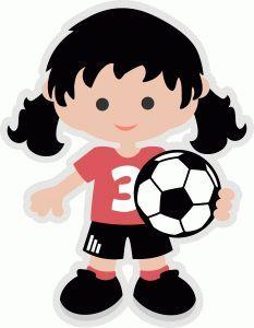 233x300 Little Girls Soccer Clipart Silhouette