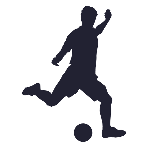 512x512 Football Player Kicking Silhouette