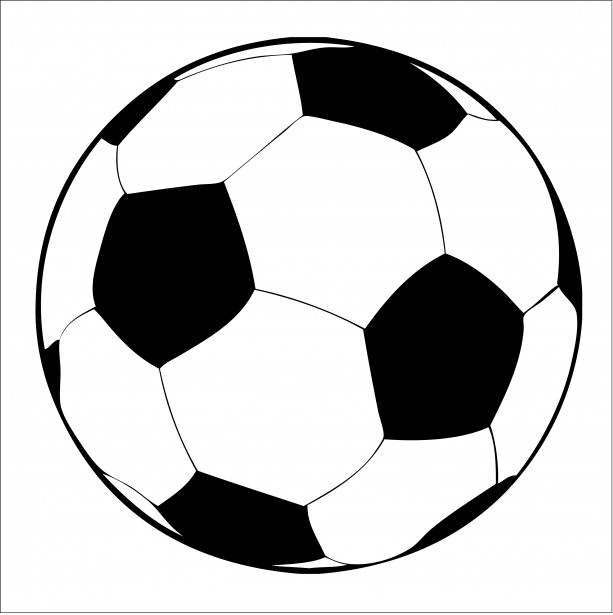 613x615 Free Soccer Clipart Image