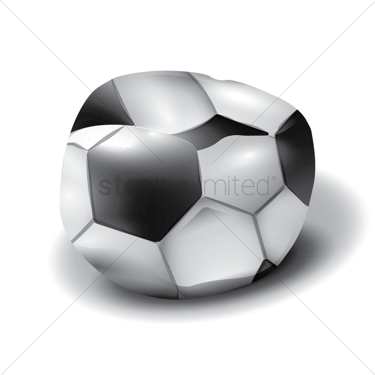 1300x1300 Deflated Soccer Ball Vector Image