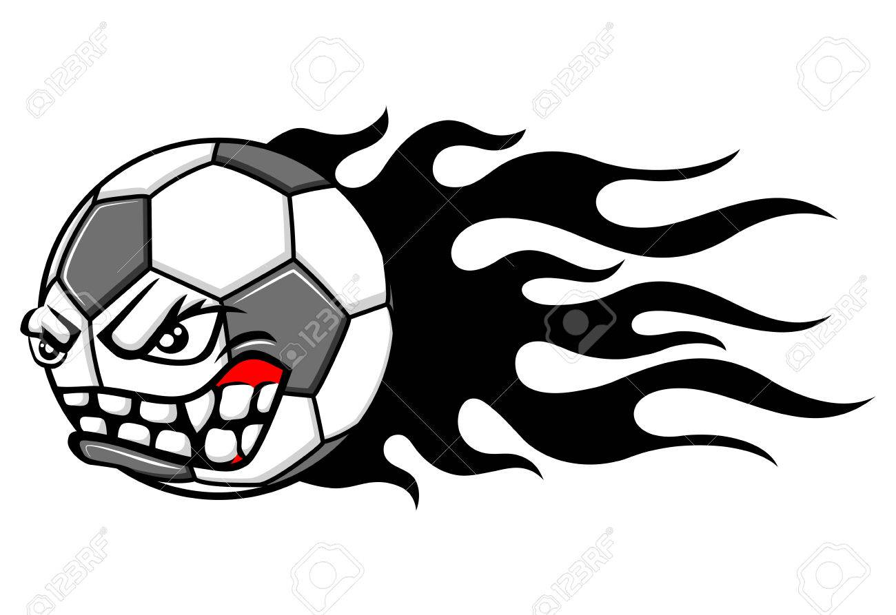 1300x893 Flaming Soccer Ball Royalty Free Cliparts, Vectors, And Stock