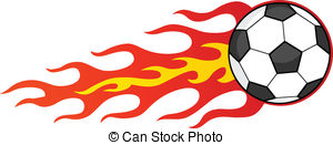 300x131 Flaming Soccer Ball Clip Art