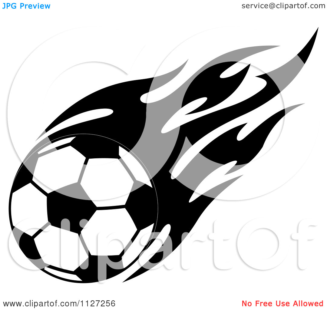 1080x1024 Flaming Soccer Ball Clipart