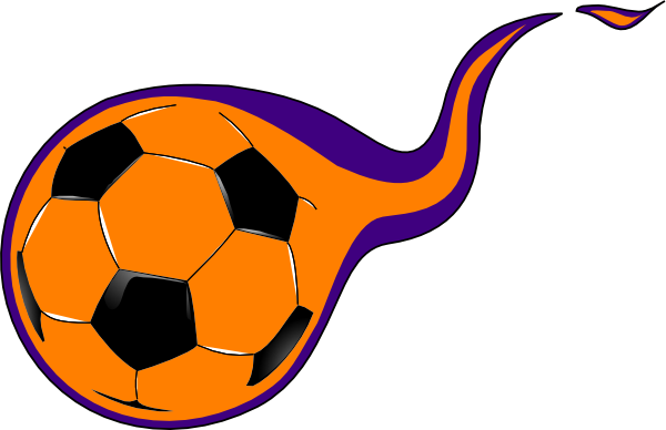 600x388 Free Soccer Ball With Flames Clipart Image