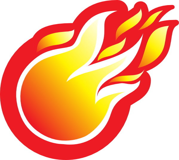 600x536 Free Soccer Ball With Flames Clipart Image