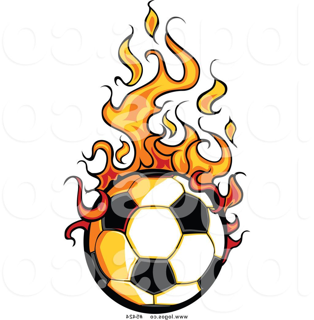 1024x1044 Hd Royalty Free Vector Of Logo Hot Soccer Ball With Flames By