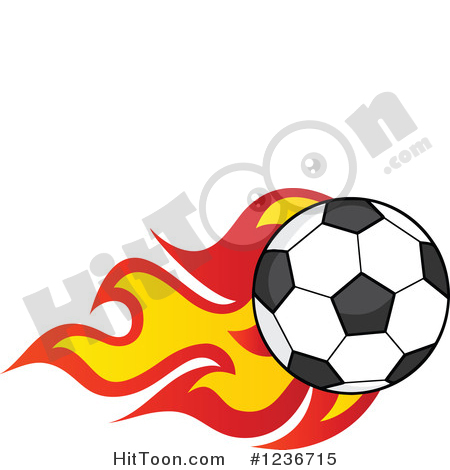 450x470 Red Soccer Ball Clip Art