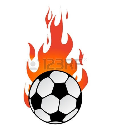 397x450 Soccer Ball In Flame Royalty Free Cliparts, Vectors, And Stock