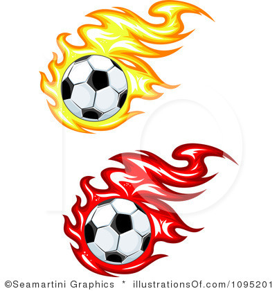 400x420 Soccer Ball On Fire Clipart