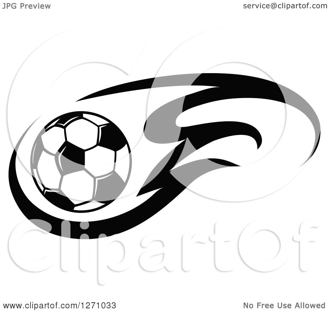 1080x1024 Clipart Of A Black And White Soccer Ball And Flames