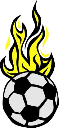 190x408 Soccer Ball Flame Fire Flame Cartoon T Shirt Spreadshirt