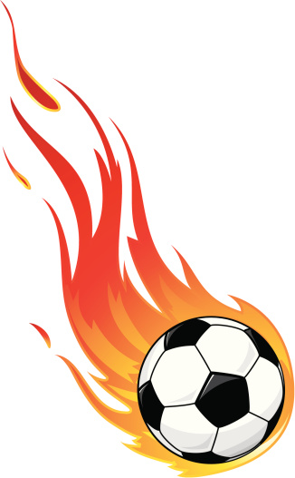 326x527 Soccer Ball On Fire Clipart
