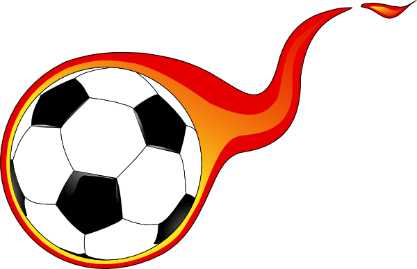 600x387 Flaming Soccer Ball Clip Art