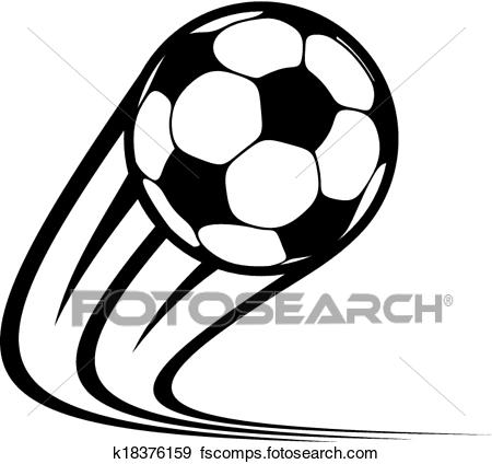9e4e46d8aae 450x424 Clip Art Of Zooming Soccer Ball Flying Through The Air K18376159