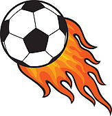 163x170 Clipart Of Football Ball (Soccer) In Fire K15510650