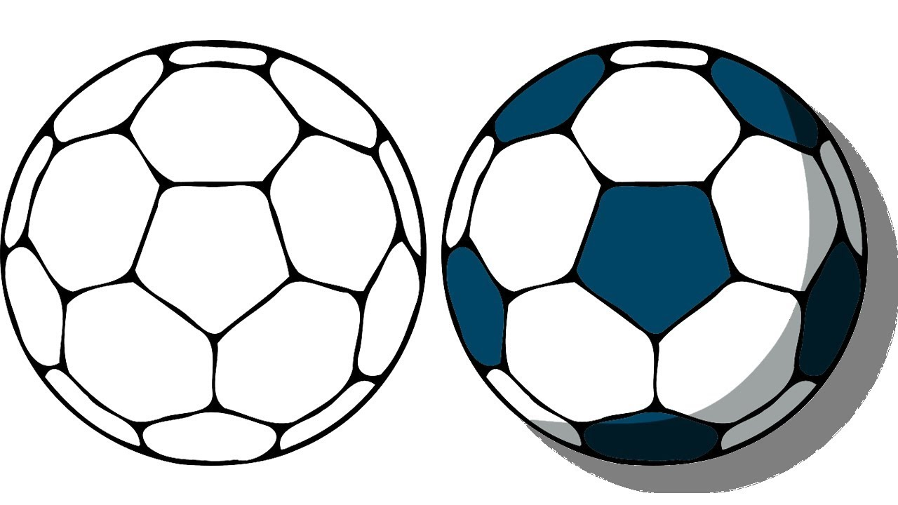 1280x720 How To Draw A Cartoon Soccer Ball