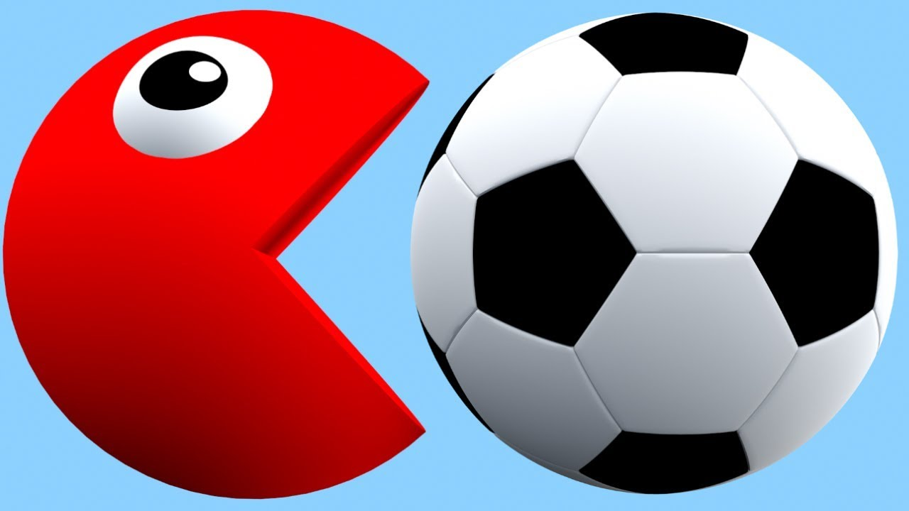 1280x720 Learn Colors With Pacman Huge 3d Soccer Balls Colours For Kids