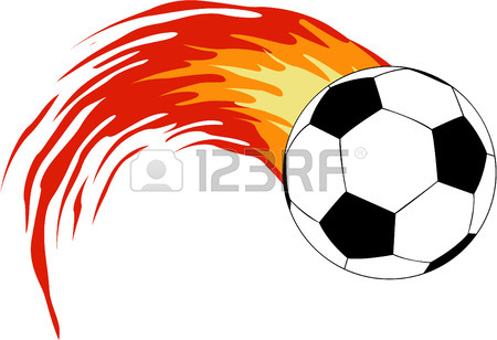 Soccer Balls With Flames