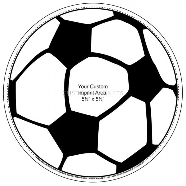 600x600 Custom Soccer Ball Magnetic Car Sign 5.75 Custom Magnets