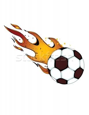 309x400 Soccer Ball On Fire Clipart