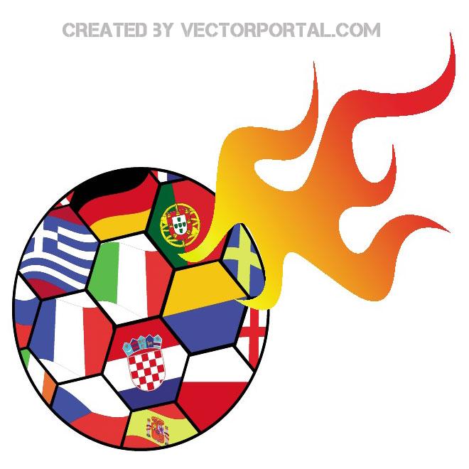 660x660 Euro Soccer 2012 Clip Art Free Vector 123Freevectors