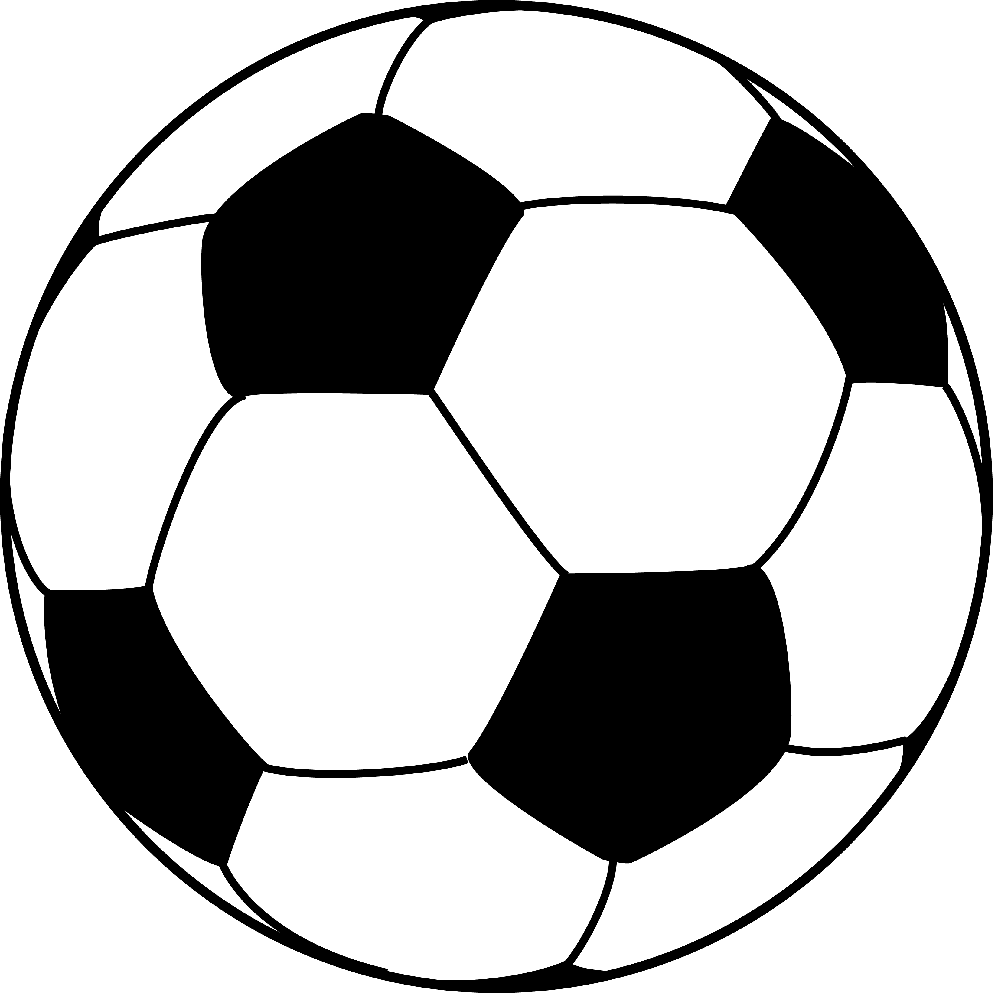 3300x3283 Soccer Ball Line Drawing Clipart