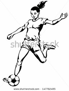236x314 Happy Female Soccer Player. Soccer Clipart Female