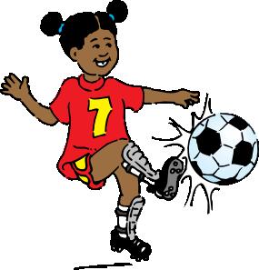 285x297 Girl Playing Soccer Clip Art